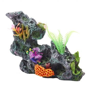 Pet Ting Colourful Coral Rock Ornament